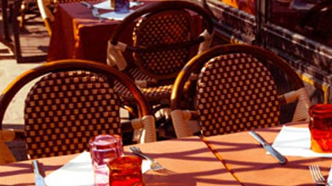 Outdoor dining at a restaurant