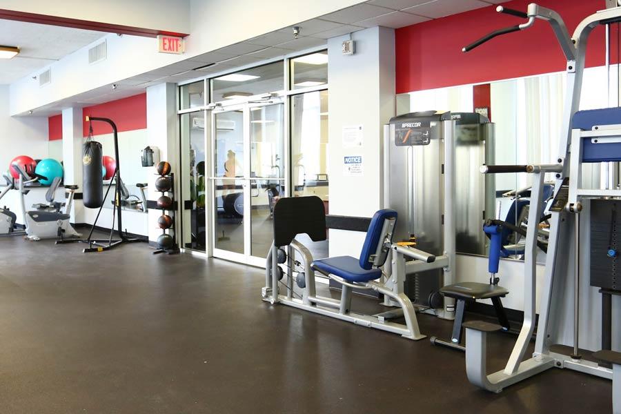 YoNo Apartments community fitness center